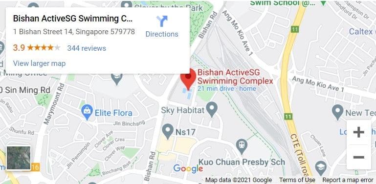 Bishan Swimming Complex Map
