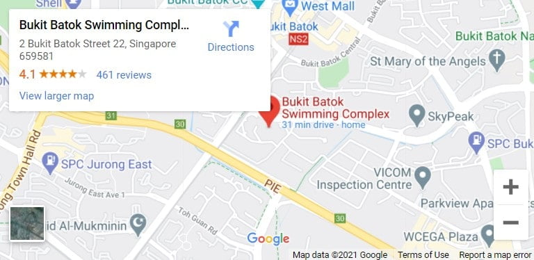 Bukit Batok Swimming Complex Map