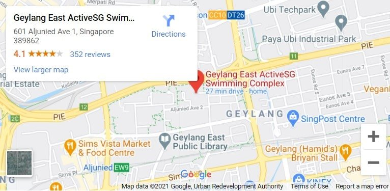 Geylang East Swimming Complex Map