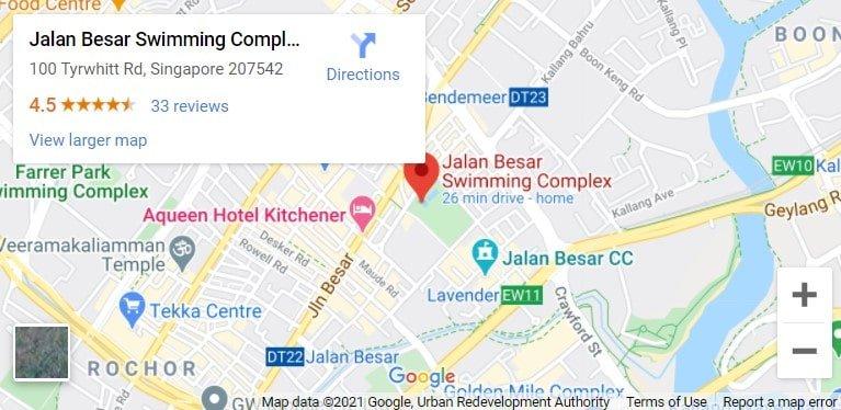 Jalan Besar Swimming Complex Map