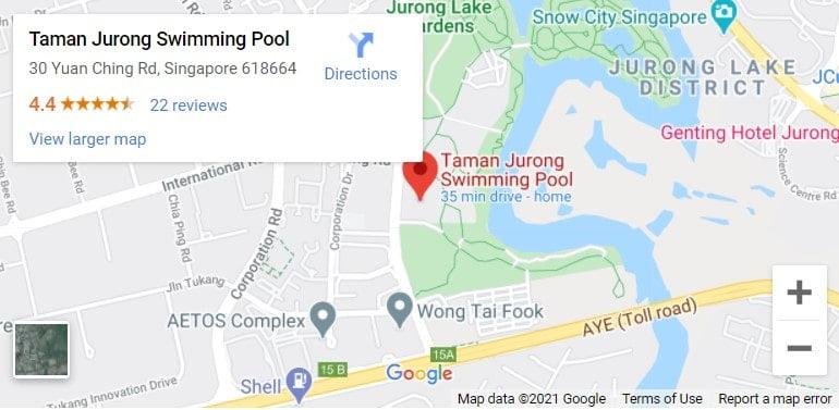 Jurong Lake Gardens Swimming Pool Map