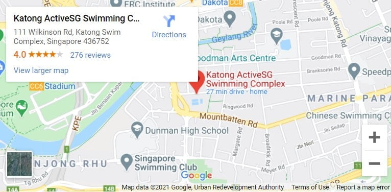 Katong Swimming Complex Map