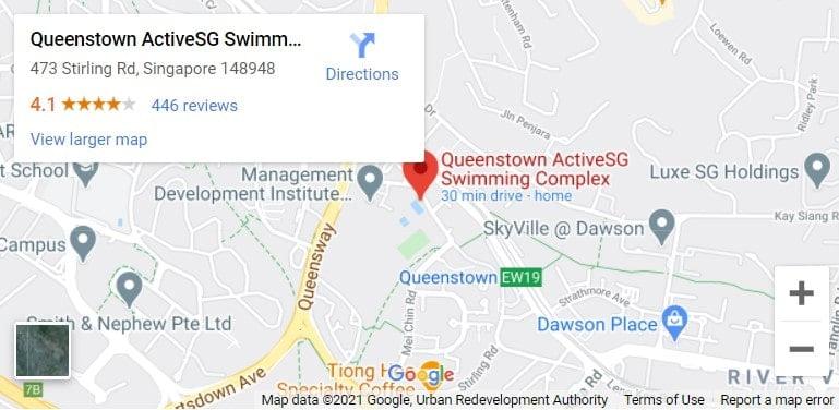 Queenstown Swimming Complex Map