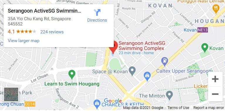 Serangoon Swimming Complex Map