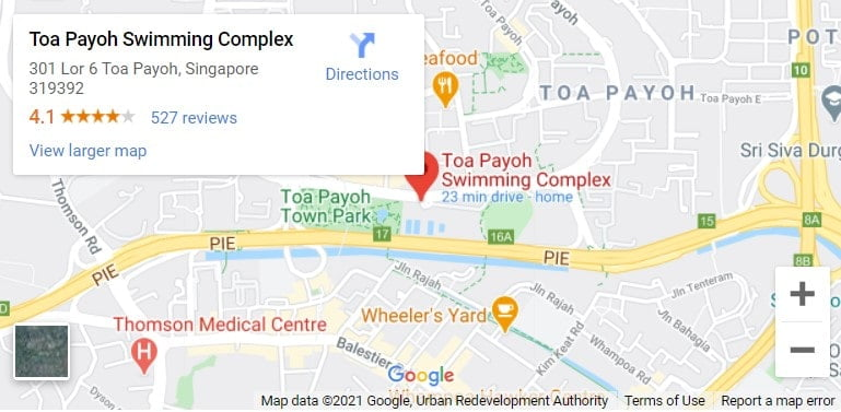 Toa Payoh Swimming Complex Map