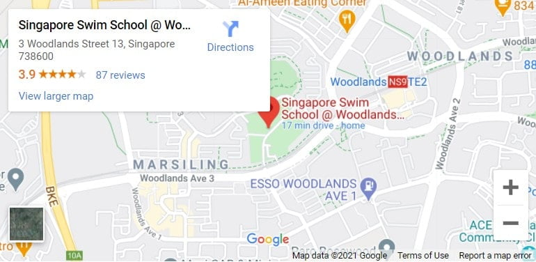 Woodlands Swimming Complex Map