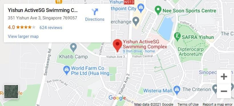 Yishun Swimming Complex Map